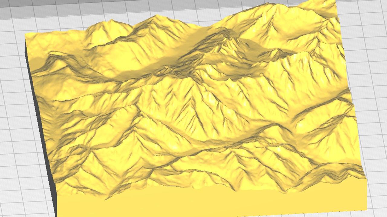 Le Mont Blanc sur Ultimaker Cura