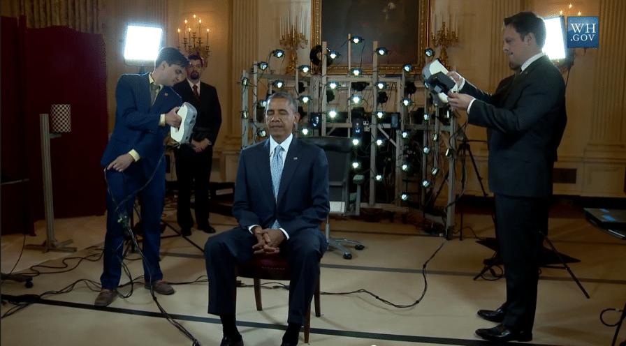 Le Président Obama scanné en 3D avec le Artec Eva. Photo Artec.